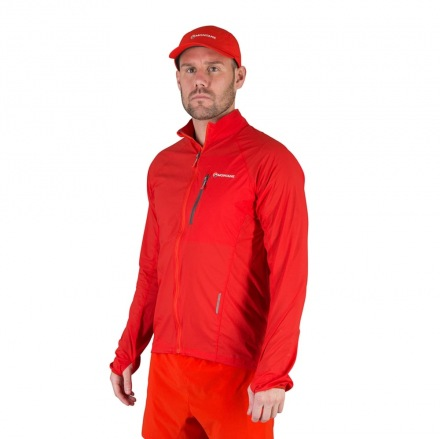 MONTANE FEATHERLITE TRAIL JACKET Red