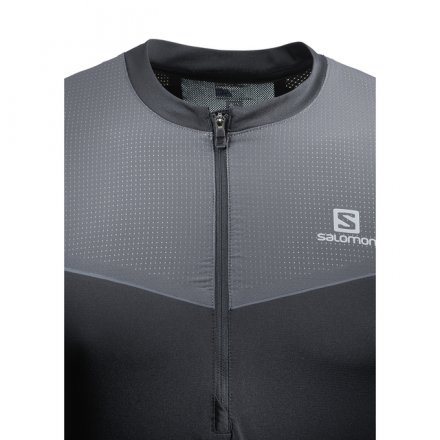 SALOMON FAST WING HZ LS TEE M Black