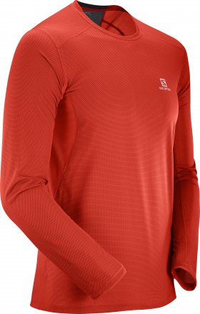 SALOMON TRAIL RUNNER LS TEE M Fiery Red