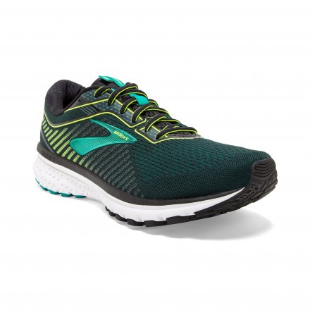 BROOKS Ghost 12 Black/Lime/Blue Grass