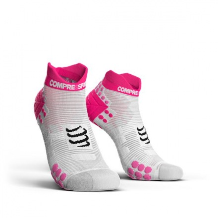 COMPRESSPORT PRORACING SOCKS LOW V3.0 White/Pink