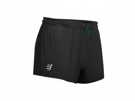 COMPRESSPORT RACING SPLIT OVERSHORT BLACK
