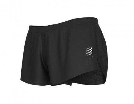 COMPRESSPORT RACING SPLIT SHORT BLACK