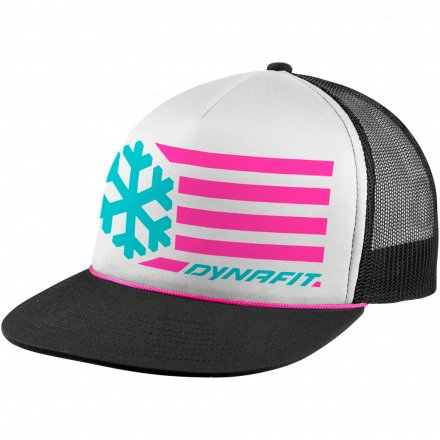 DYNAFIT GRAPHIC TRUCKER CAP White Flag