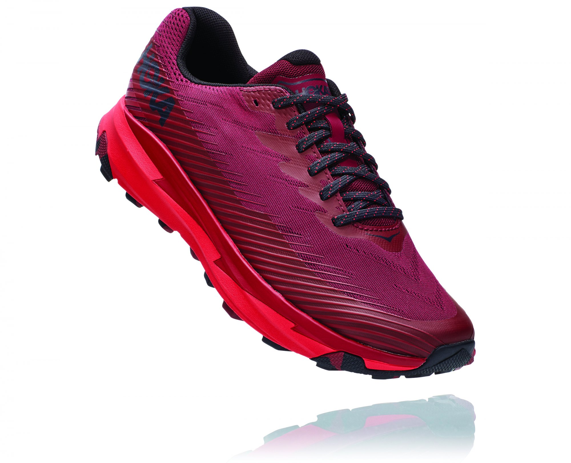 HOKA TORRENT 2 Cordovan/High Risk Red
