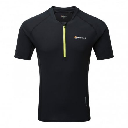 MONTANE FANG ZIP T-SHIRT Black