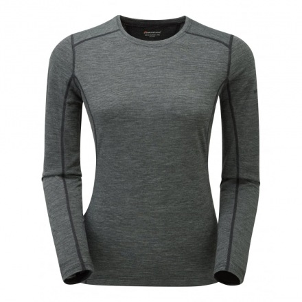 MONTANE W PRIMINO 220 G LONG SLEEVE T-SHIRT Grey