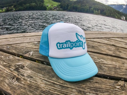 TRAILPOINT Kšiltovka Trucker White/Pacific Blue