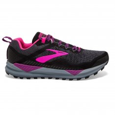 BROOKS Cascadia 14 Black/Hollyhock/Pink
