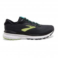BROOKS Adrenaline GTS 20 WIDE Black/Lime/Blue Grass