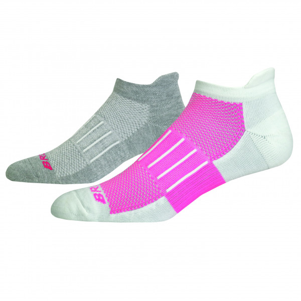 BROOKS Ghost Midweight 2-Pack Oxford/Fluoro Pink
