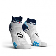 COMPRESSPORT PRORACING SOCKS LOW V3.0 White/Blue
