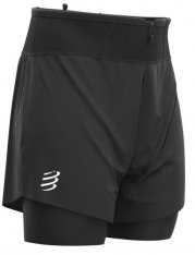 COMPRESSPORT TRAIL 2-IN-1 SHORT BLACK