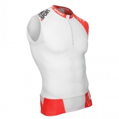 COMPRESSPORT TRAIL RUNNING TANK V2 White