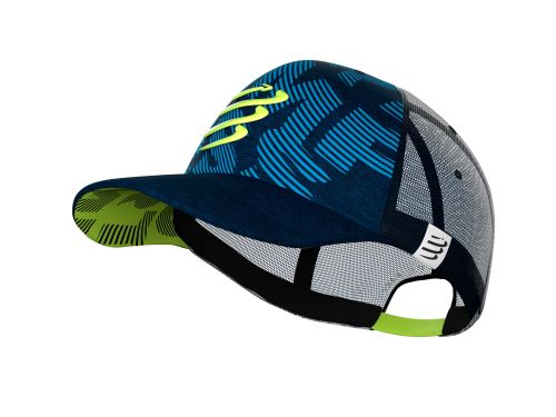 COMPRESSPORT TRUCKER CAP BLUE/LIME