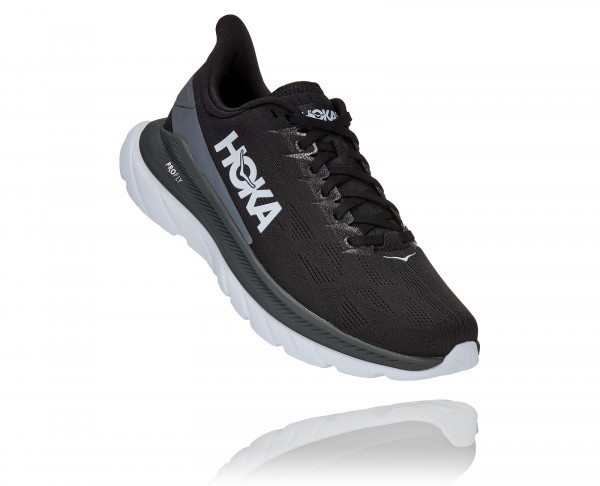 HOKA MACH 4 BLACK / DARK SHADOW