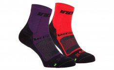 INOV-8 RACE ELITE PRO SOCK Purple/Black + Red/Black
