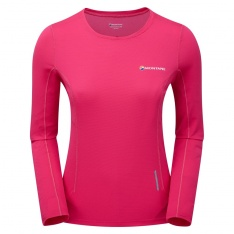 MONTANE WOMENS CLAW LONG SLEEVE T-SHIRT Dolomite Pink