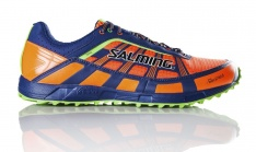 SALMING TRAIL T3 SHOE Shocking orange/Deep Blue