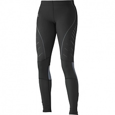 SALOMON ENDURANCE TIGHT W Black/Dark Cloud