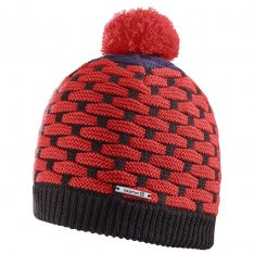 SALOMON POLY BEANIE Black/Infrared/Nightshade