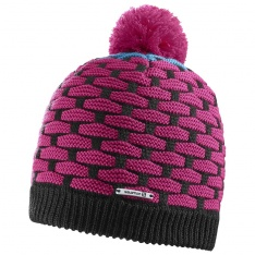 SALOMON POLY BEANIE Gaura Pink/Kouak Blue