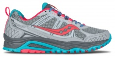 SAUCONY RIDE GRID EXCURSION TR10 Grey/Blue/Corral